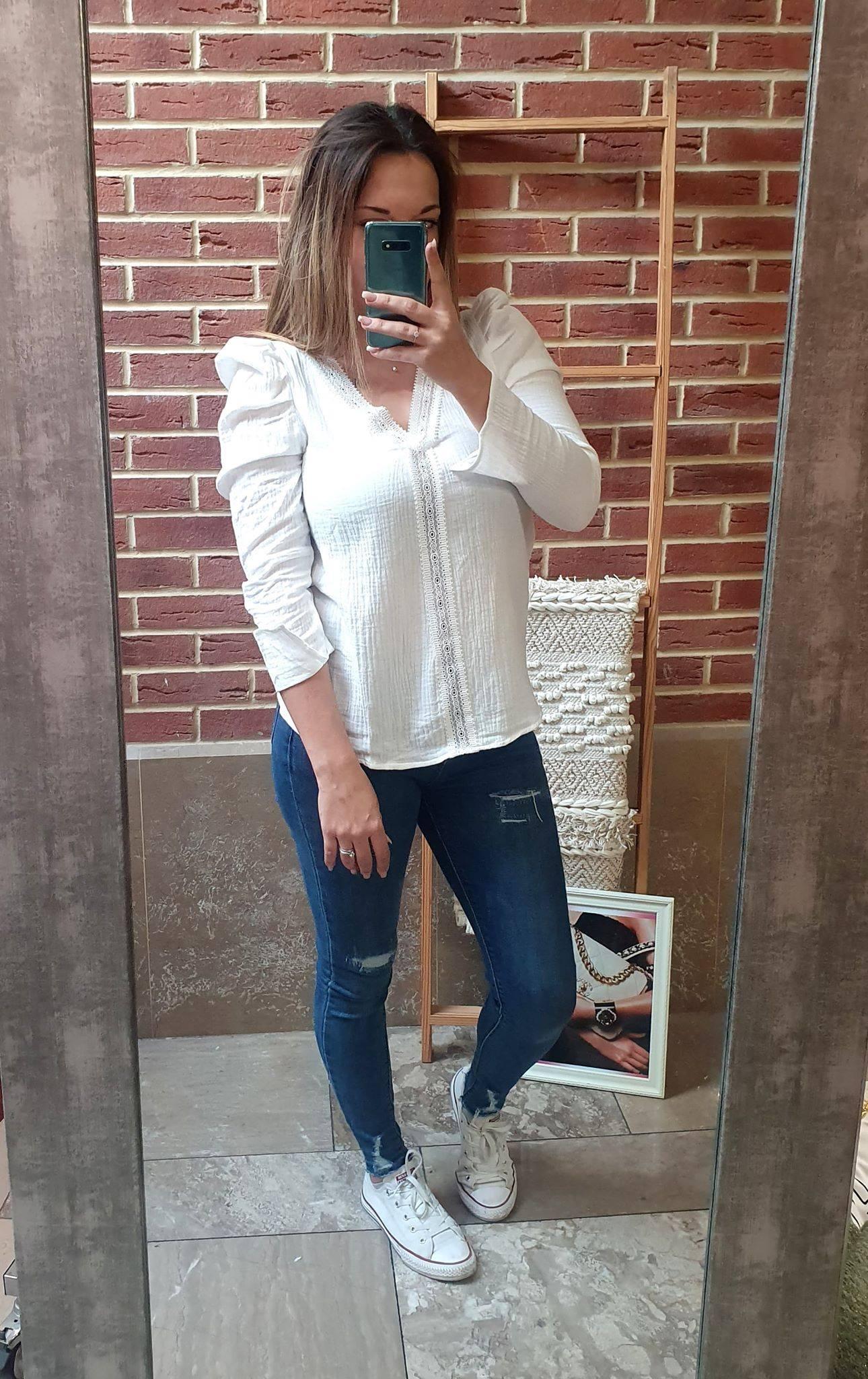 blouse blanche - BLO_BLA_DEN