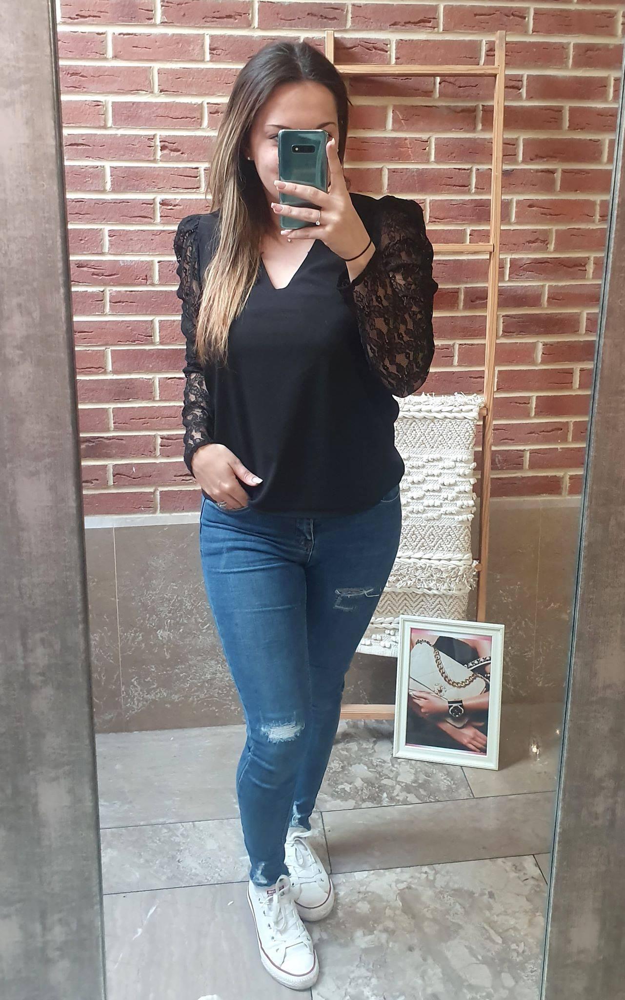 blouse noire col V  - BLO_NOI_COL_V