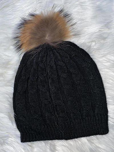 bonnet à pompom - BONNET_POMPOM_NOIR