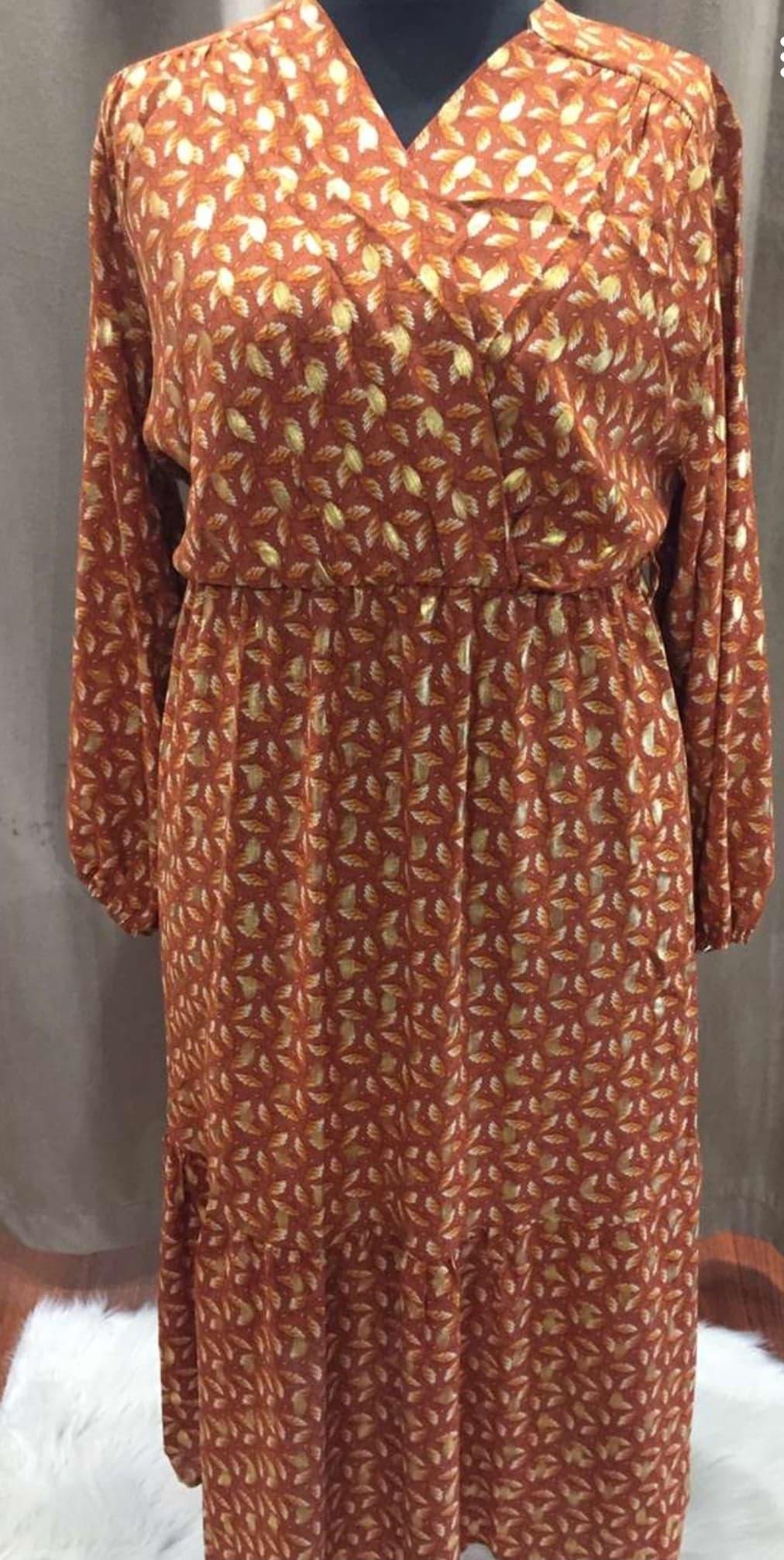 longue robe orange - LON_ROB_ORA_GT