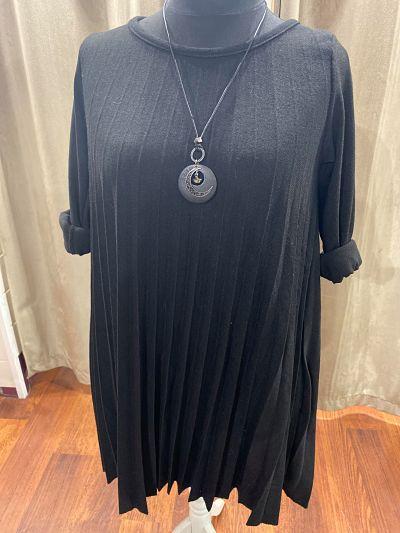 robe pull avec collier  - ROBE_COLLIER_NOIR