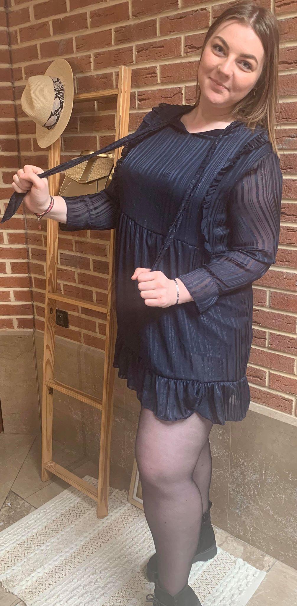 robe bleuté  - ROB_BLE_NOI_NUI_ARG