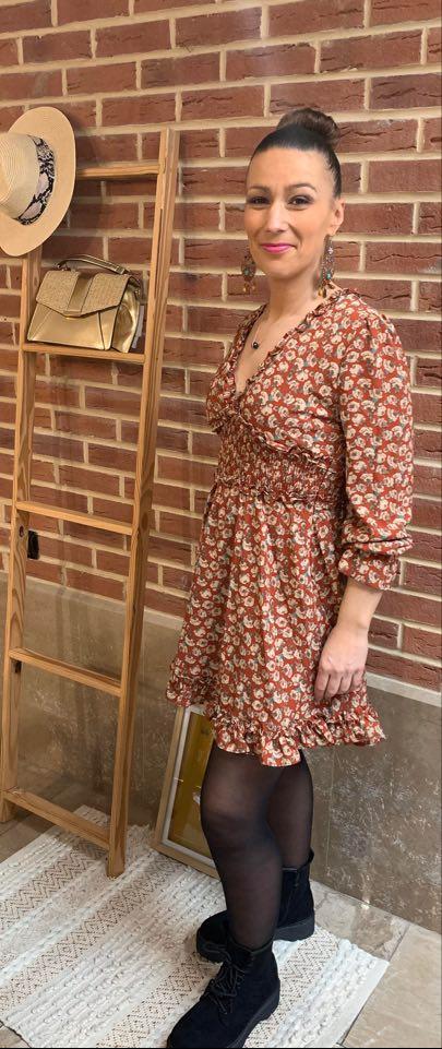 robe courte  - ROB_COU_ROU_BEI_FLE