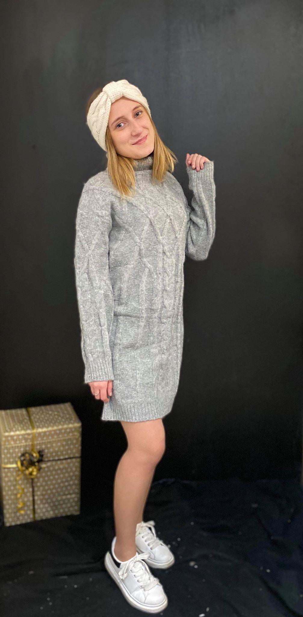 robe grise col roulé - ROB_GRI_VOL_ROU