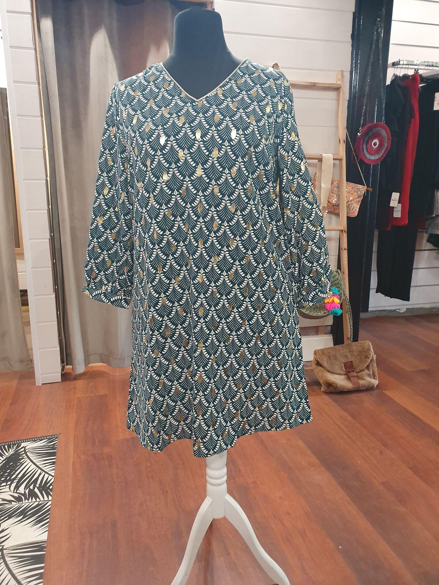 robe vert motifs - ROB_GT_VERT