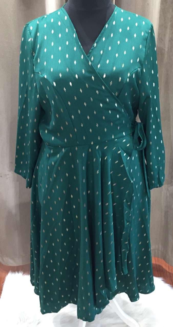 robe kimono vert or - ROB_KIM_OR_GT