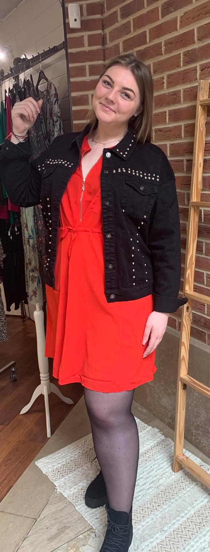 Robe rouge zip - ROB_ROU_ZIP