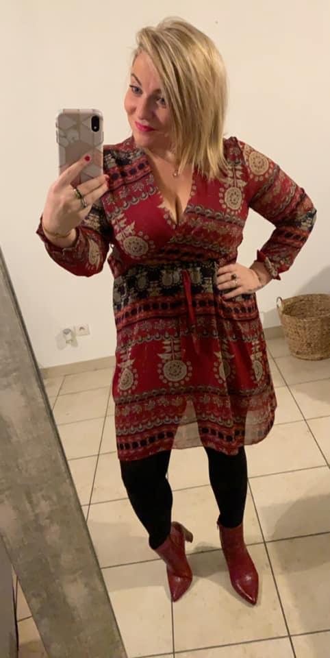 robe tunique courte cintré  - ROB_TUN_COU_CIN_BOR