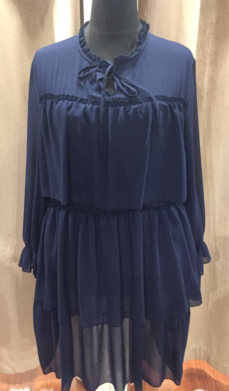 robe voile bleu  - ROB_VOI_BLE