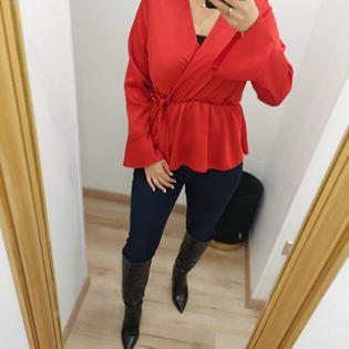blouse satin cache coeur rouge - blo-sat-cac-coe-rou