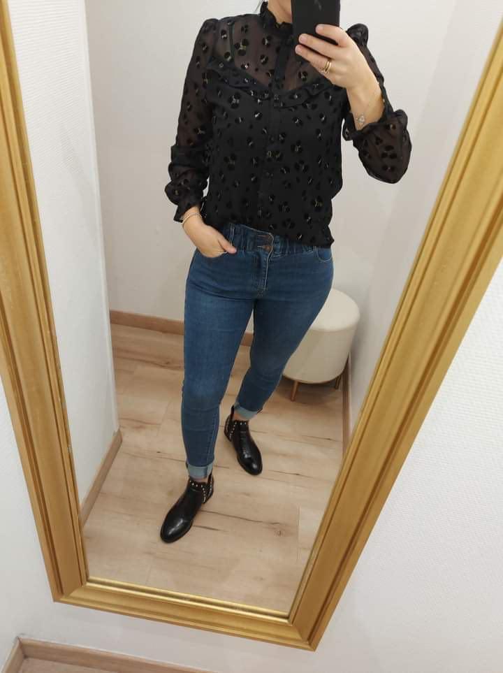 chemise leopard noir doré - che-leo-noi-dor
