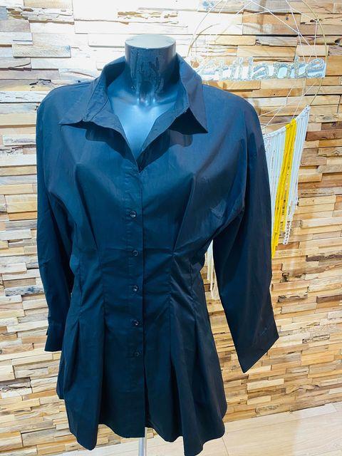 chemise longue cintrée noir - che-lon-cin-noi