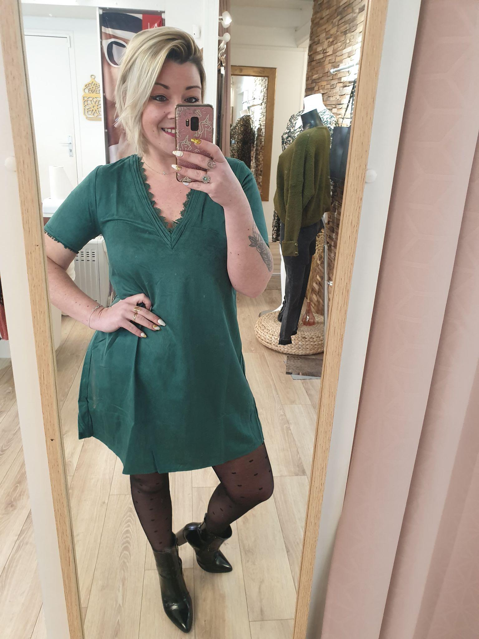robe vert emeraude - emeraude