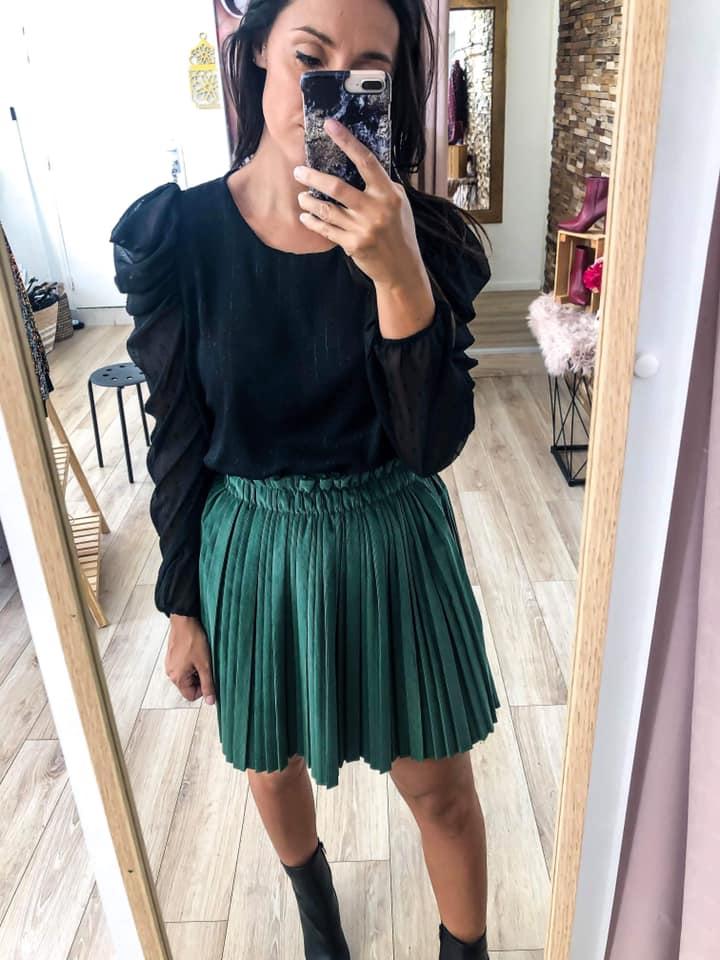 jupe plissée - jupe-pli-courte