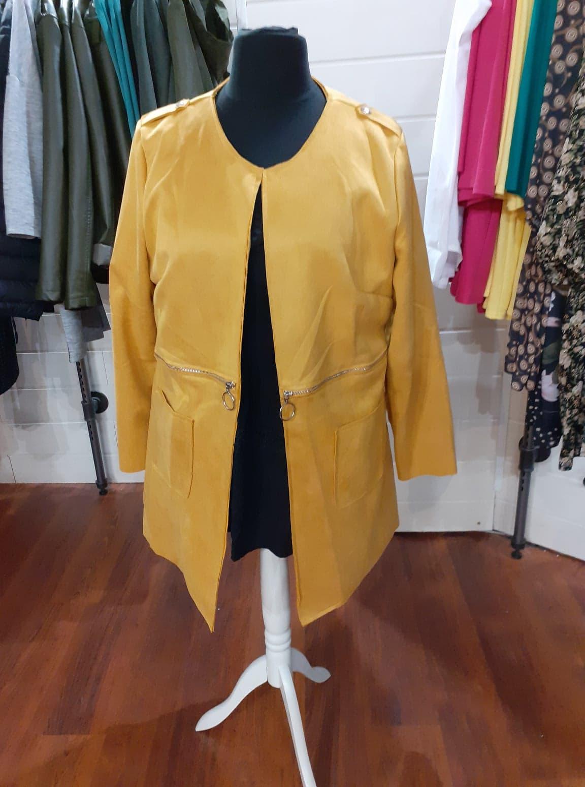 longue veste peau de peche moutarde - lon-ves-pea-pech-mou