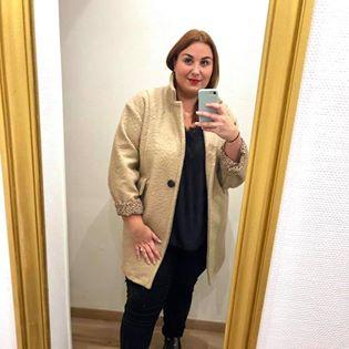 manteau côtelé beige  - man-cot-bei