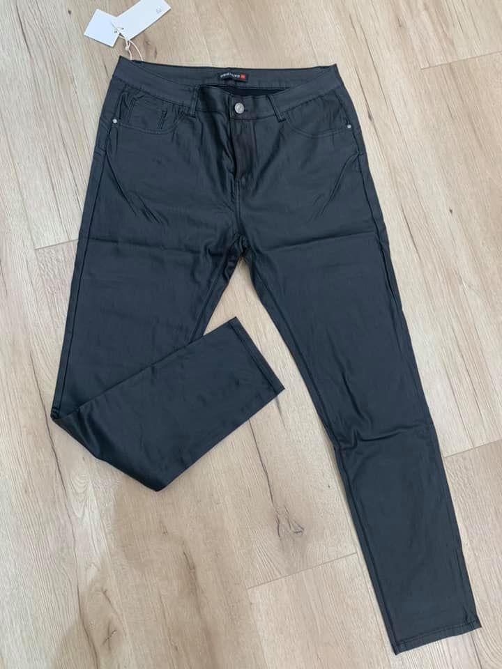 pantalon simili noir  - pan-sim-noir