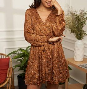 robe léopard camel - rob-léo-cam