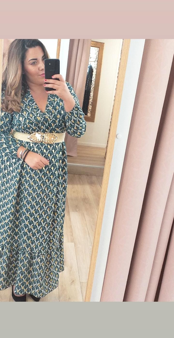 robe à motifs et pastilles dorées - rob-mot-gt