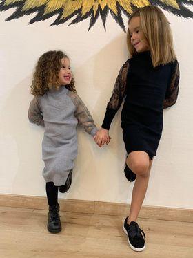 robe pull grise enfant - rob-pul-gri-enf