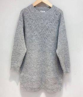 robe pull laine grise - rob-pul-lai-gri