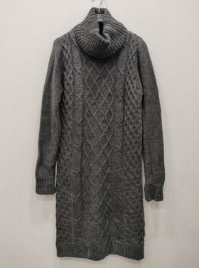robe pull maille laine gris  - rob-pul-mai-lai-gri