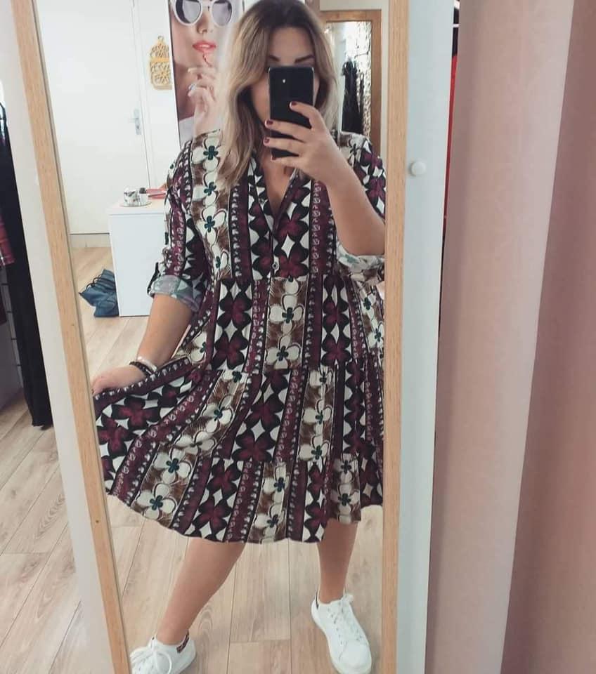 Robe à motifs - robe-moroug