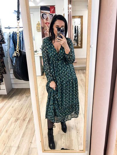 robe longue verte - robelguevert